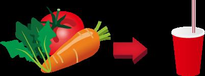 野菜ジュースのコーナー
